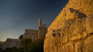 TJ_012 Time Lapse Israel: Jerusalem - Wall and Tower of David day to night