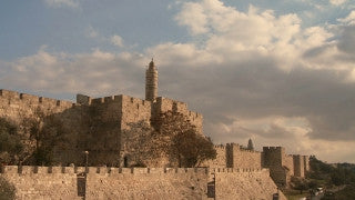 TJ_013 Time Lapse Israel: Jerusalem - City Wall and Tower of David