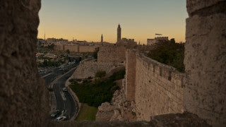 TJ_016 Time Lapse Israel: Jerusalem - City walls, day to night