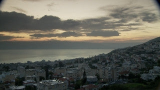 TN_001 Time Lapse Israel: North & Sea of Galilee - Tiberias and Sea of Galilee at sunrise