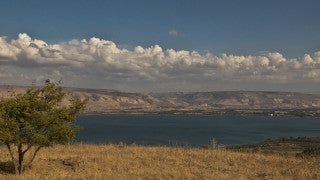 TN_012 Time Lapse Israel: North & Sea of Galilee - Galilee with snowcapped peaks