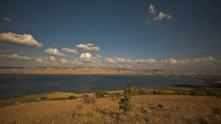 TN_005 Time Lapse Israel: North & Sea of Galilee - Sea of Galilee and yellow fields