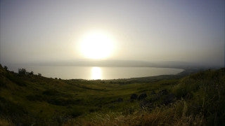TN_014 Time Lapse Israel: North & Sea of Galilee - sunrise in the Sea of Galilee