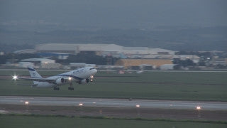TR_001 Transportation in Israel: El Al airplane takes off from Tel Aviv Ben Gurion Airport