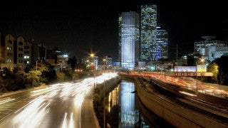 TT_021 Time Lapse Israel: Tel Aviv - skyline at night