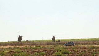 TZE_029 Israel military footage: Gaza War 2014 Operation Protective Edge - Iron Dome battery near Ashkelon