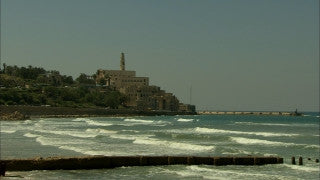 T_020 Tel Aviv stock footage: coastline with Jaffa in background