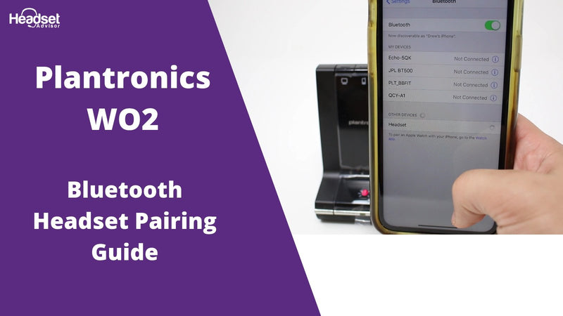 2 Step Plantronics WO2 Pairing Guide For Mobile Phone | Headset Advisor