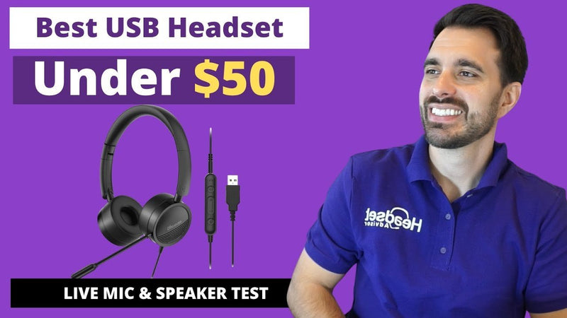 Best Wired USB Headset Under $50 In 2021 With Live Microphone & Speaker Test VIDEO | Headset Advisor