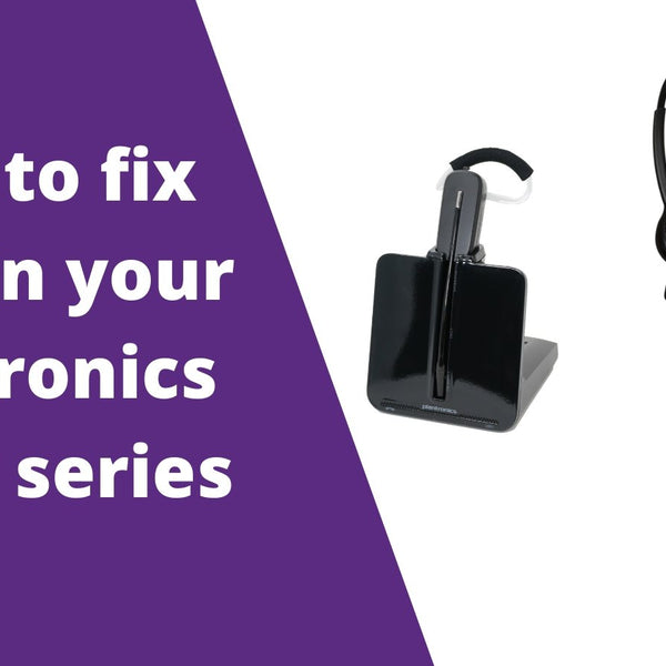How To Fix Echo In Your Plantronics C054 Cs540 C052 C053 And Cs530 Headset Advisor