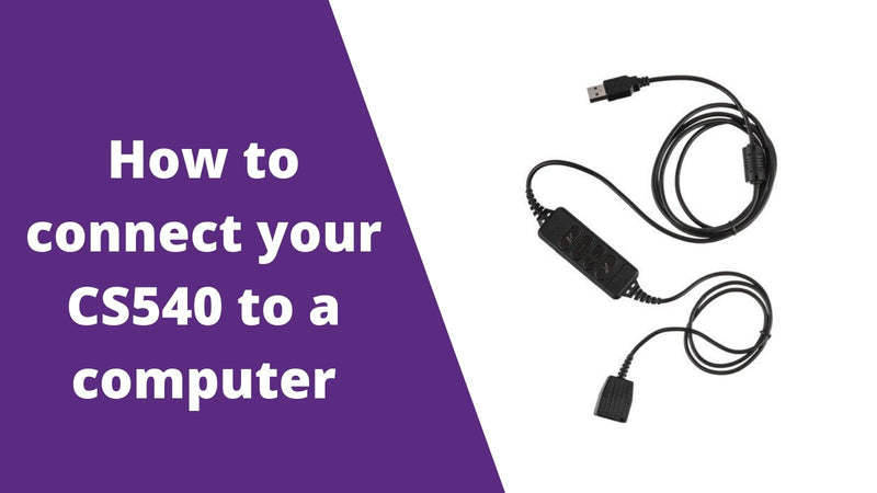 How To Connect Your Plantronics CS540 To A Computer | Headset Advisor