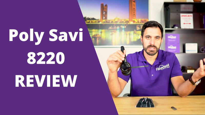 MIC Test & Review of the Poly 8220 UC DECT Wireless USB Headset - ANC and All Day Comfort | Headset Advisor