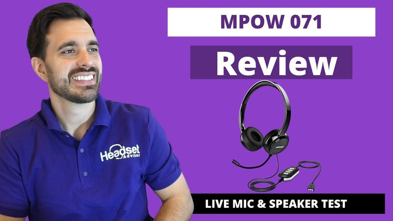 MPOW 071 USB Computer Wired Headset Review With Live Microphone & Speaker Test VIDEO | Headset Advisor