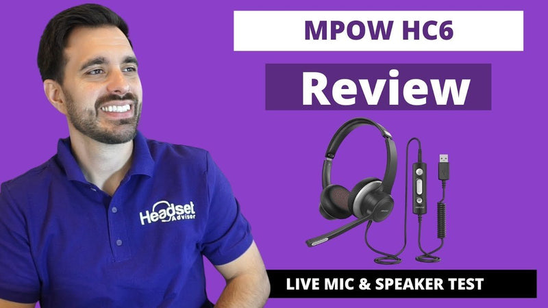 MPOW HC6 Dual Speaker Wired USB Headset Review With Live Mic & Speaker Test VIDEO | Headset Advisor