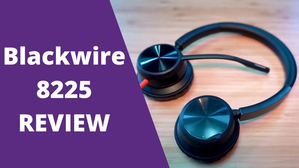 REVIEW & MIC TEST of Poly Blackwire 8225 - Dual Speakers with ANC! | Headset Advisor