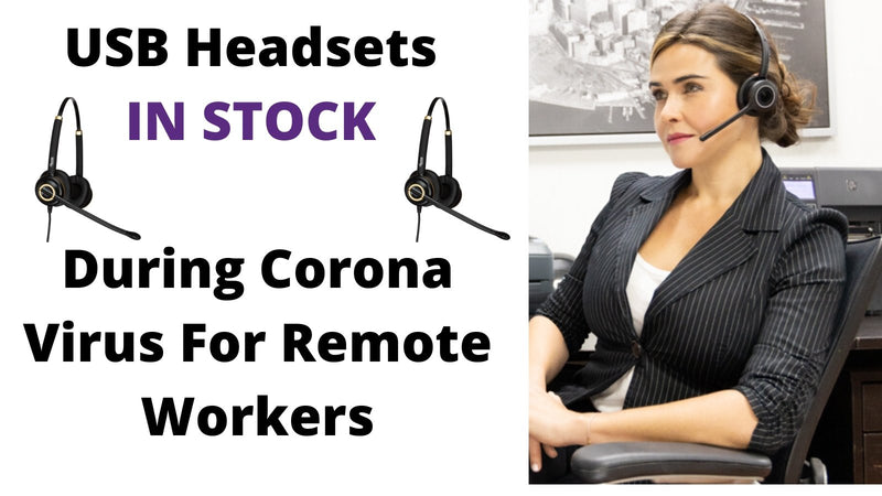 USB Headsets For Remote Work In Stock (Coronavirus) | Headset Advisor