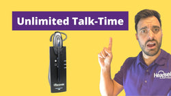 Wireless Office Phone Headset with UNLIMITED Talk-Time - Meet Discover D904 | Headset Advisor