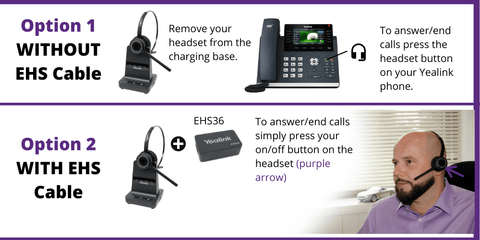 yealink headset remote answering