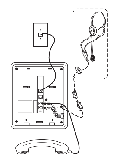 avaya headset connection
