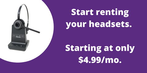 headset rental benefits