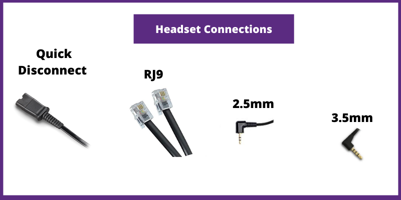 wired headset connections