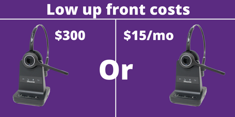 low up front costs