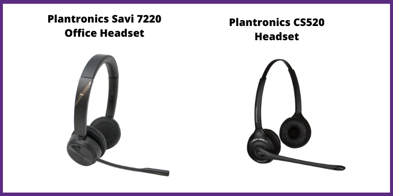 plantronics cs520 headset vs savi 7200 office headset