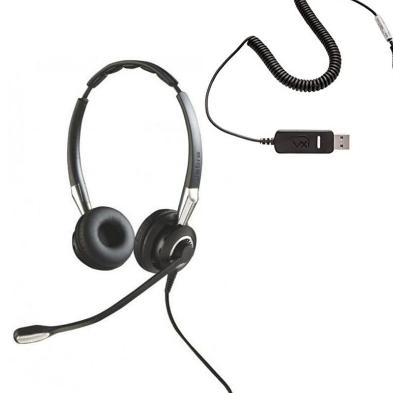 Bulk USB Headsets Now In Stock - Jabra BIZ 2400 USB Headset (Renewed) - Headset Advisor