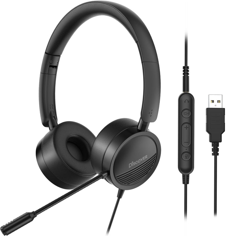 Discover D312U Dual Speaker USB + 3.5mm Wired Headset - Headset Advisor