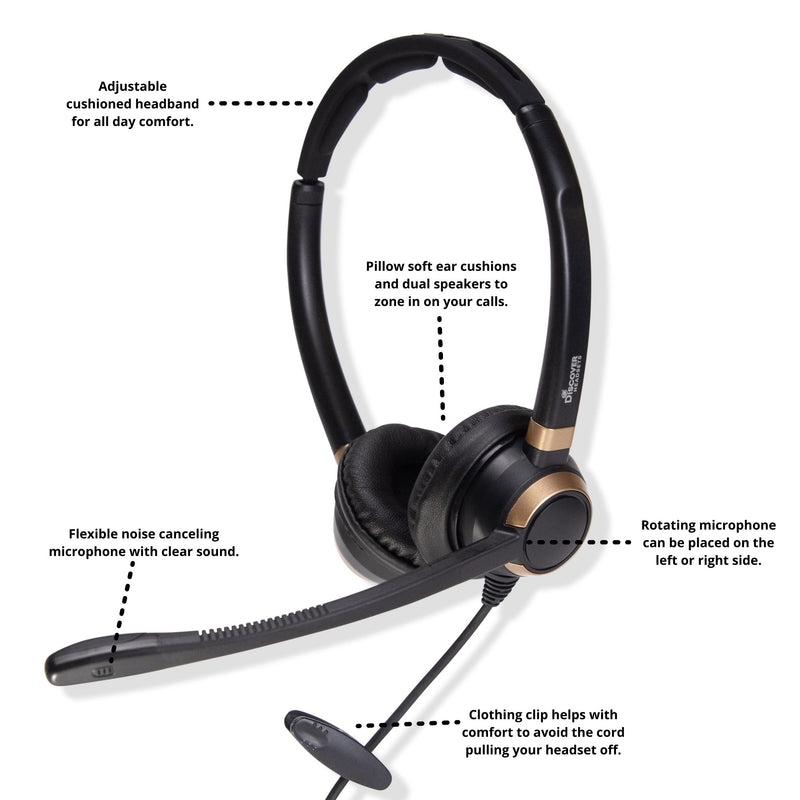 Discover D712U Dual Speaker USB Wired Office Headset For Professionals - Headset Advisor