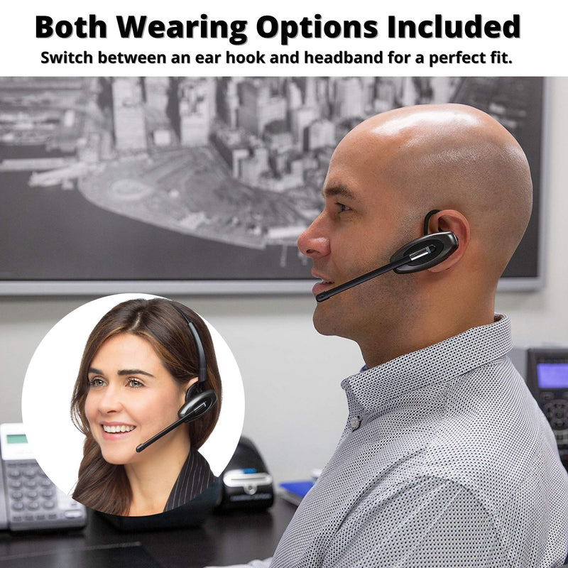 Discover D904 Convertible DECT Wireless Office Headset For Professionals - Headset Advisor