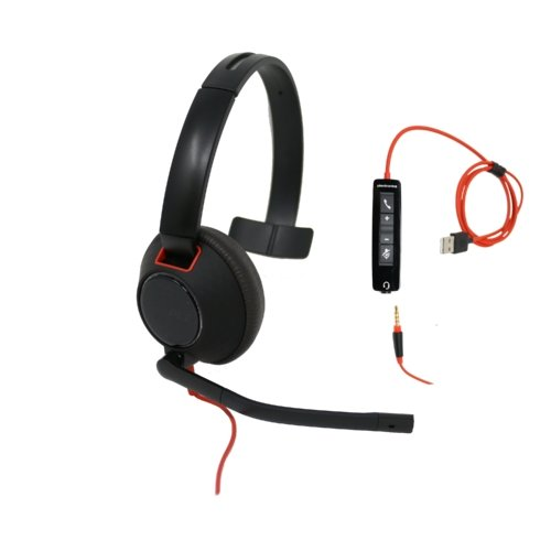 Plantronics Blackwire 5210 Single Speaker Wired USB Headset For USB-A and 3.5mm - Headset Advisor