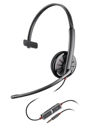 Plantronics Blackwire C215 Single Speaker Wired Headset With 3.5mm Connection - Headset Advisor