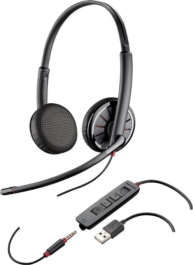 Plantronics Blackwire C325 Dual Speaker Wired Headset For Computer and Mobile - Headset Advisor
