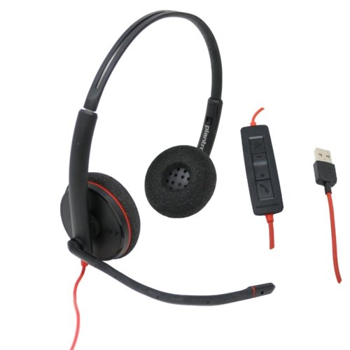 Plantronics C3220 Dual Speaker Wired USB Headset - Headset Advisor