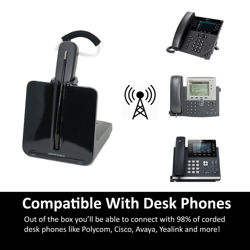 Plantronics CS540 Convertible Wireless Office Headset For Desk Phone - Headset Advisor