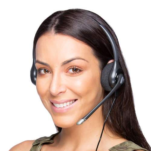 Plantronics HW261N SupraPlus Over The Head Double Ear Wired Office Headset - Headset Advisor