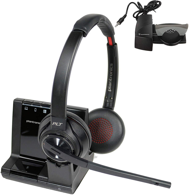 Plantronics Savi 8220 Wireless Headset Bundle With Lifter - Headset Advisor