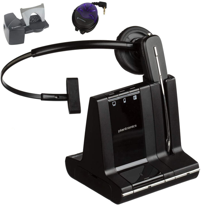Plantronics Savi W740 Wireless Headset Bundle With Lifter and Busy Light - Headset Advisor