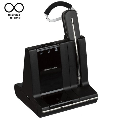 Plantronics Savi W745 Convertible Wireless Headset For Desk Phone, Computer and Mobile - Headset Advisor