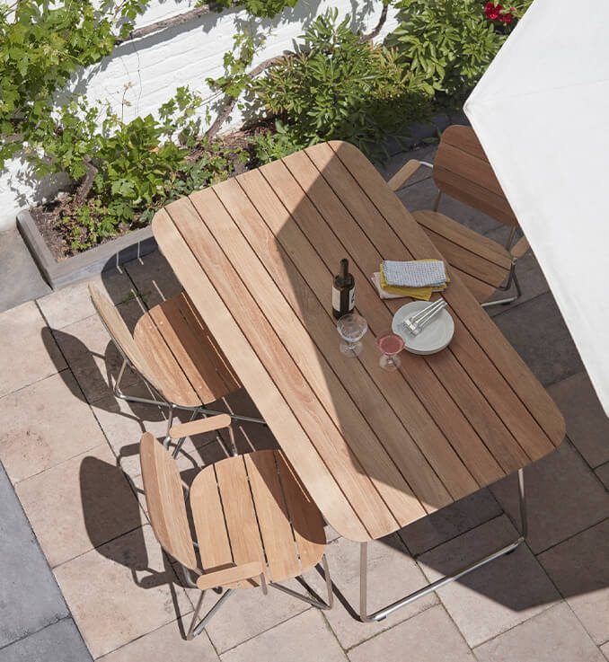 Sustainable outdoor furniture made with Nordic craftsmanship