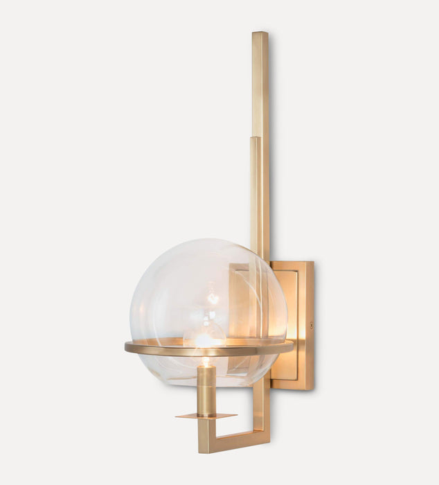Fermi Sconce Natural Brass