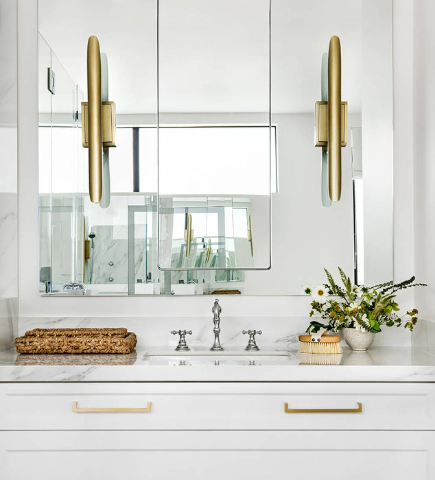 Salinas Sconce Natural Brass