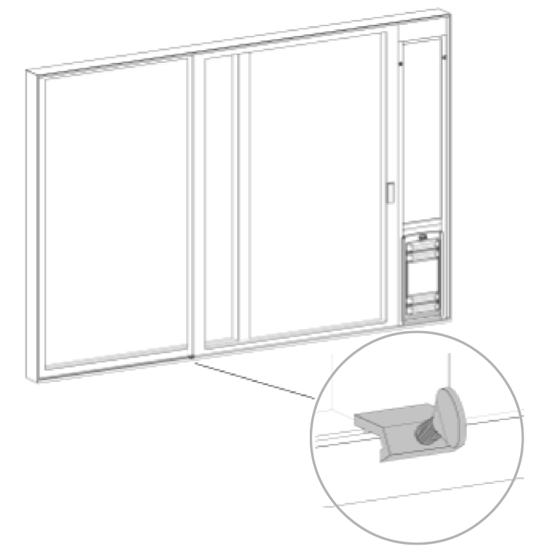 a lock can secure your slider in place