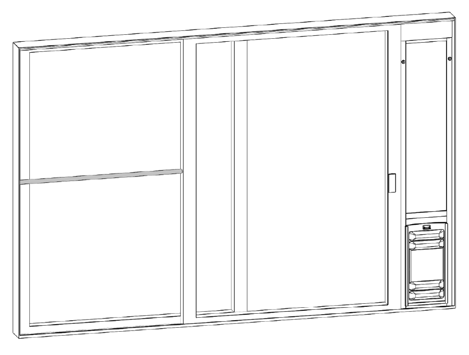 use a charley bar or dowel in the slider track to secure your door