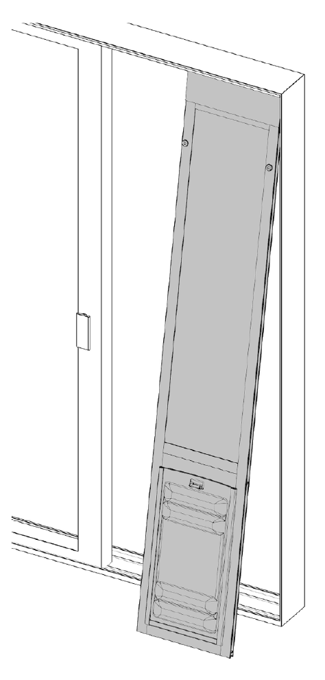 inserting the thermopanel pet door into your slider