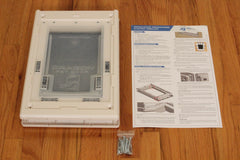 dragon pet door contents with stainless hardware and extra instructions
