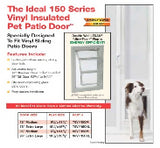 A pet door for in the glass of your sliding door