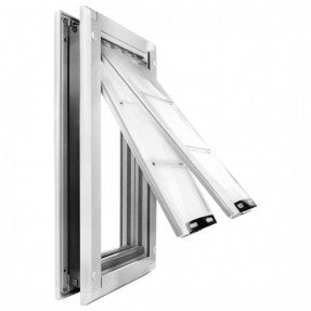 Endura flap pet door for doors flaps open