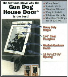 Covering chewing damages with a rigid flap is the Gun Dog Heavy Duty